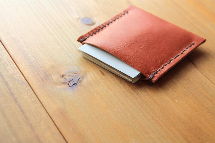 1つポケットのカードケースを作る